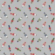 Lewis & Irene Small Things at Christmas - 5491 - Toy Soldiers on Pale Grey - SMC10.2 - Cotton Fabric